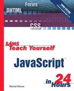 Sams Teach Yourself JavaScript in 24 Hours, 3/e (Paperback)-cover