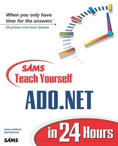 Sams Teach Yourself ADO.NET in 24 Hours (Paperback)-cover