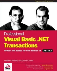 Professional VB.NET Transactions (Paperback)-cover