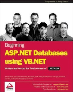 Beginning ASP.NET Databases using VB.NET (Paperback)-cover