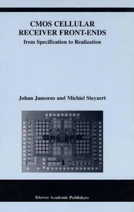 CMOS Cellular Receiver Front-Ends: From Specification to Realization (Hardcover)-cover