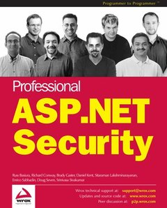 Professional ASP.NET Security (Paperback)-cover