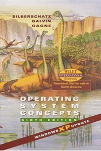 Operating System Concepts, 6/e (Windows XP Update)-cover