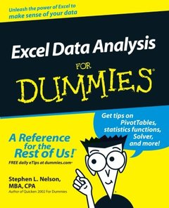 Excel Data Analysis for Dummies (Paperback)-cover