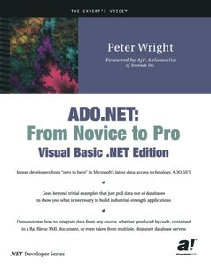 ADO.NET: From Novice to Pro, Visual Basic .NET Edition-cover