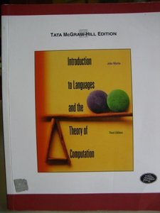 Introduction to Languages and the Theory of Computation, 3/e-cover