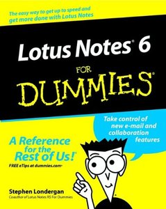 Lotus Notes 6 For Dummies (Paperback)-cover