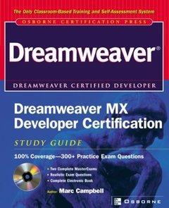 Dreamweaver MX Developer Certification Study Guide (Paperback)-cover