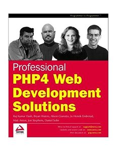 Professional PHP4 Web Development Solutions-cover