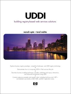 UDDI: Building Registry-based Web Services Solutions-cover