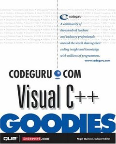 Codeguru.com Visual C++ Goodies (Paperback)