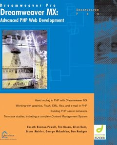Dreamweaver MX : Advanced PHP Web Development (Paperback)-cover