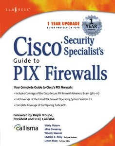 Cisco Security Specialist's Guide to PIX Firewall-cover