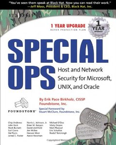Special Ops: Host and Network Security for Microsoft, UNIX, and Oracle-cover