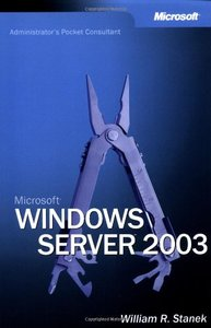 Microsoft Windows Server 2003 Administrator's Pocket Consultant (Paperback)-cover