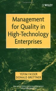 Management for Quality in High Technology Enterprises-cover
