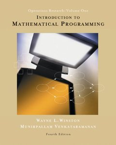 Introduction to Mathematical Programming: Applications and Algorithms, Volume 1, 4/e (Hardcover)-cover