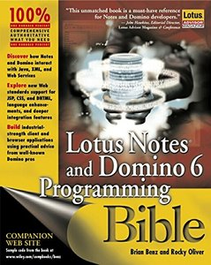 Lotus Notes and Domino 6 Programming Bible-cover