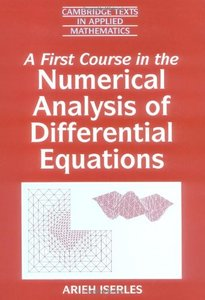 A First Course in the Numerical Analysis of Differential Equations-cover