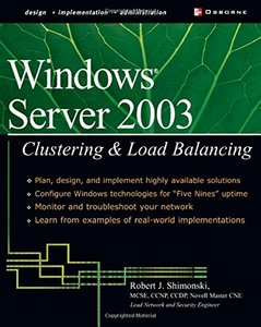 Windows Server 2003 Clustering & Load Balancing-cover