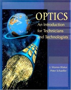 Optics: An Introduction for Technicians and Technologists (Paperback)-cover