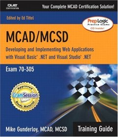 MCAD/MCSD Training Guide (70-305): Developing and Implementing Web Applications (Paperback)-cover