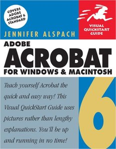 Adobe Acrobat 6 for Windows and Macintosh : Visual QuickStart Guide (Paperback)-cover