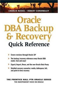Oracle DBA Backup and Recovery Quick Reference-cover