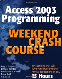 Access 2003 Programming Weekend Crash Course-cover