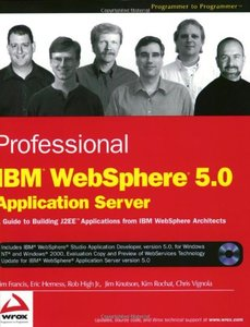 Professional IBM WebSphere 5.0 Application Server-cover
