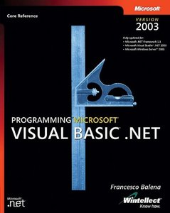 Programming Microsoft Visual Basic.NET Version 2003-cover