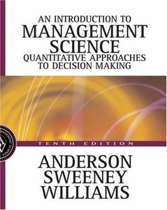An Introduction to Management Science: Quantitative Approaches to Decision Making, 10/e-cover