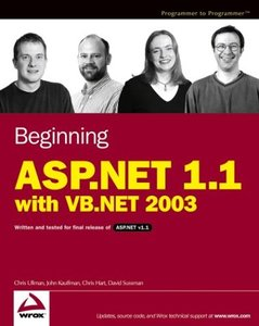 Beginning ASP.NET 1.1 with VB.NET 2003 (Paperback)-cover