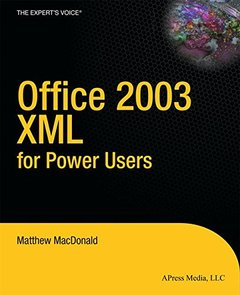 Office 2003 XML for Power Users-cover