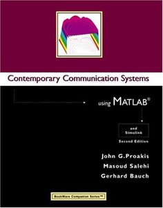 Contemporary Communication Systems Using MATLAB, 2/e-cover