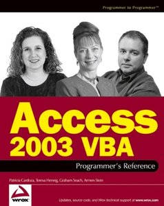 Access 2003 VBA Programmer's Reference-cover