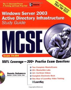 MCSE Windows Server 2003 Active Directory Infrastructure Study Guide (Exam 70-294)-cover