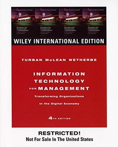 Information Technology for Management: Transforming Organizations in the Digital Economy, 4/e-cover