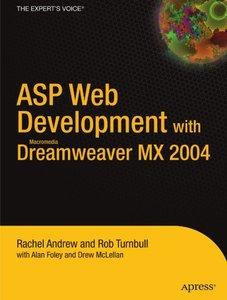 ASP Web Development With Macromedia Dreamweaver MX 2004-cover