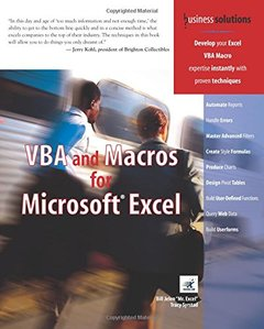 VBA and Macros for Microsoft Excel-cover