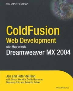 Coldfusion Web Development With Macromedia Dreamweaver Mx 2004 (Paperback)-cover