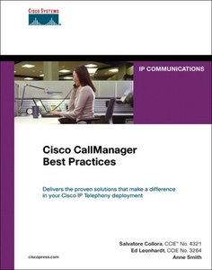 A Cisco AVVID Solution Cisco CallManager Best Practices (Hardcover)-cover