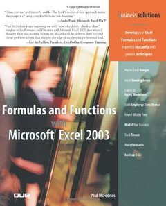 Formulas and Functions with Microsoft Excel 2003-cover