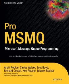 Pro MSMQ: Microsoft Message Queue Programming-cover