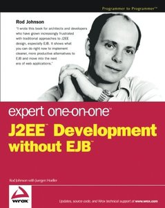 Expert One-on-One J2EE Development without EJB (Paperback)-cover