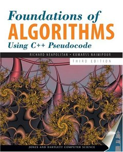 Foundations of Algorithms Using C++ Pseudocode, 3/e (Hardcover)-cover