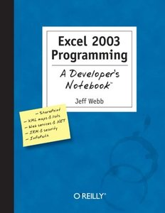 Excel 2003 Programming : A Developer's Notebook-cover
