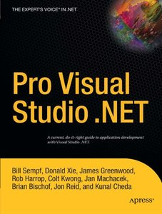 Pro Visual Studio .NET-cover
