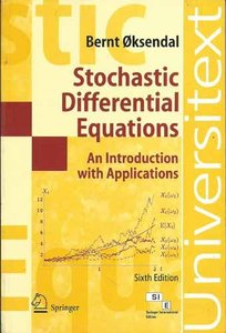 Stochastic Differential Equations: An Introduction With Applications, 6/e (Paperback)-cover