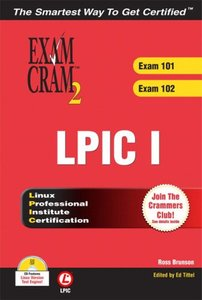 LPIC 1 Exam Cram 2: Linux Professional Institute Certification Exams 101 and 102 (Paperback)-cover
